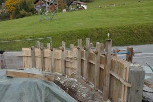 Gartenmauer geschalt innen